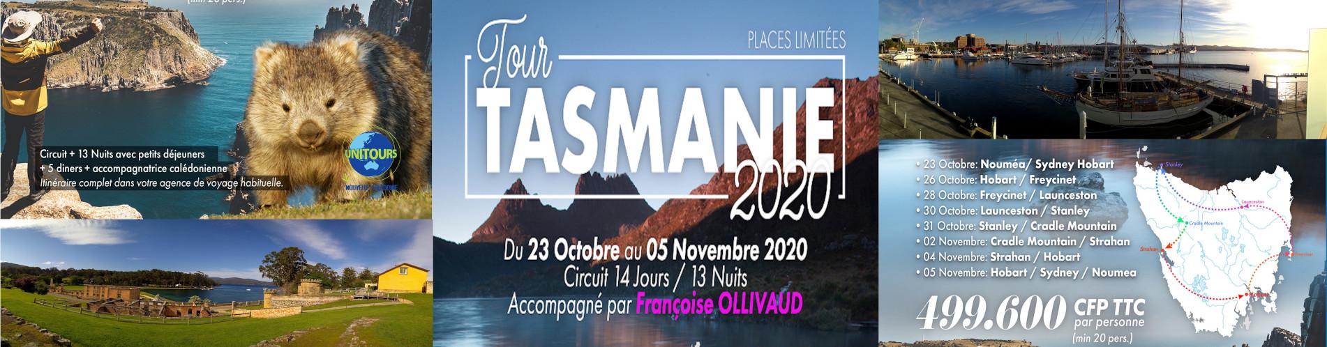 TOUR TASMANIE 2020